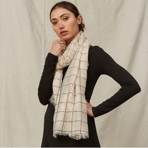 4/$25 Rachel pally neutral windowpane scarf NWT